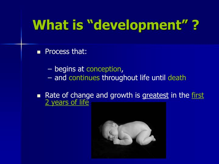 "What is ""development"" ?"