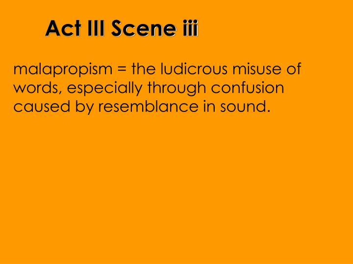 Act III Scene iii