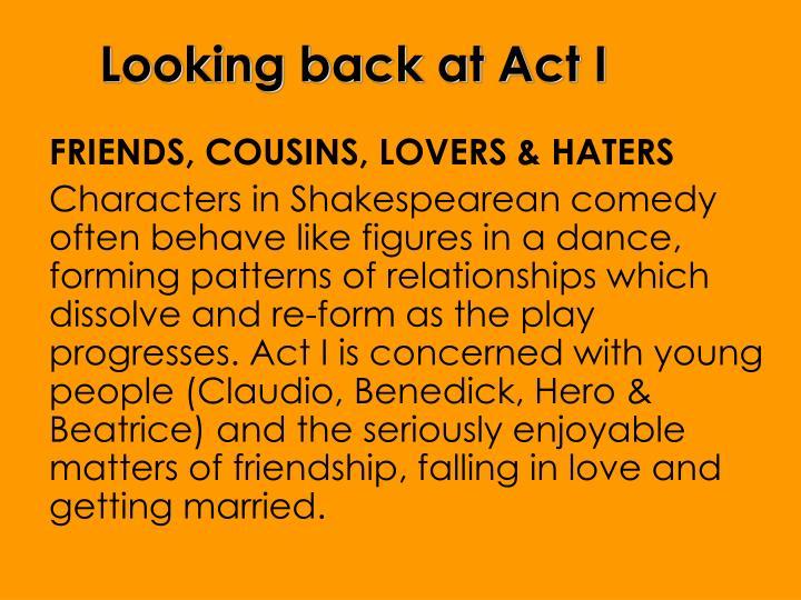 Looking back at Act I