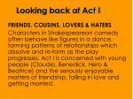 looking back at act i1