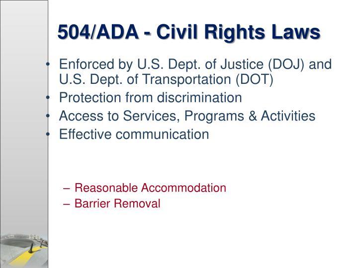 504/ADA - Civil Rights Laws