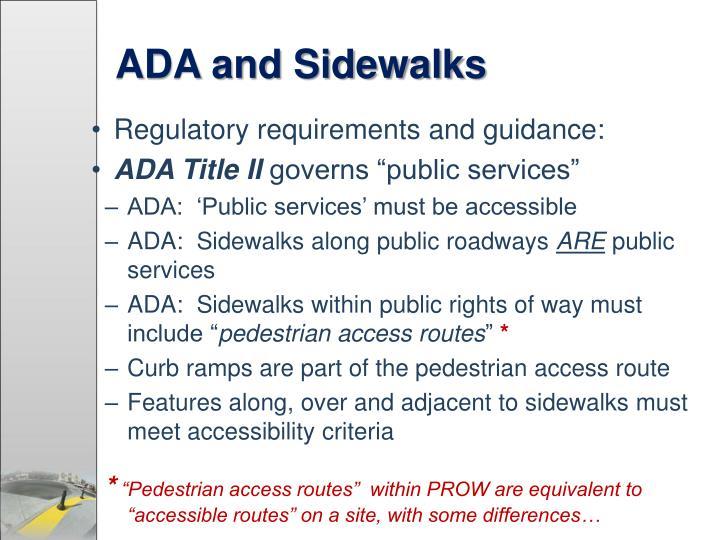 ADA and Sidewalks