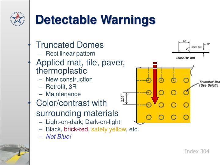 Detectable Warnings