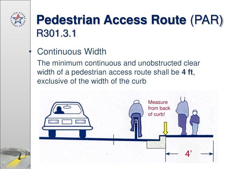 Pedestrian Access Route