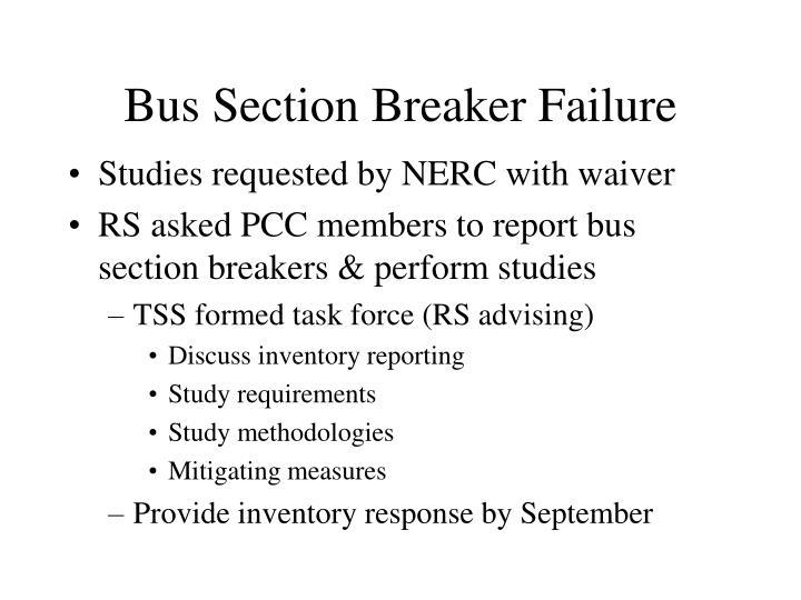 Bus Section Breaker Failure