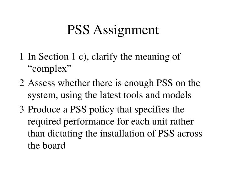 PSS Assignment