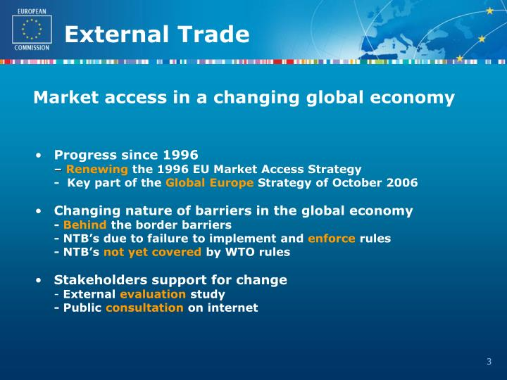 Market access in a changing global economy