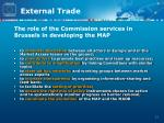 the role of the commission services in brussels in developing the map