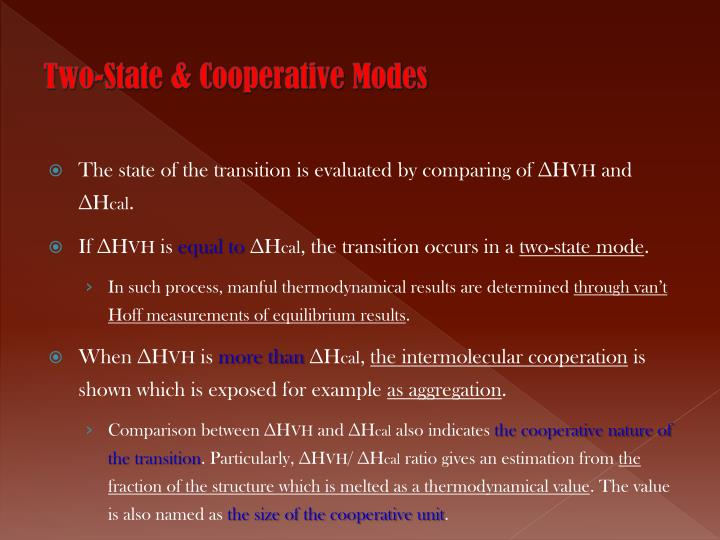 Two-State & Cooperative Modes