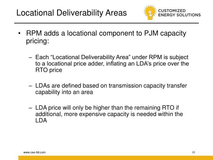 Locational Deliverability Areas