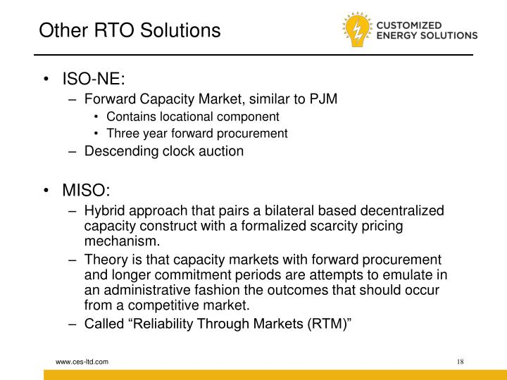 Other RTO Solutions
