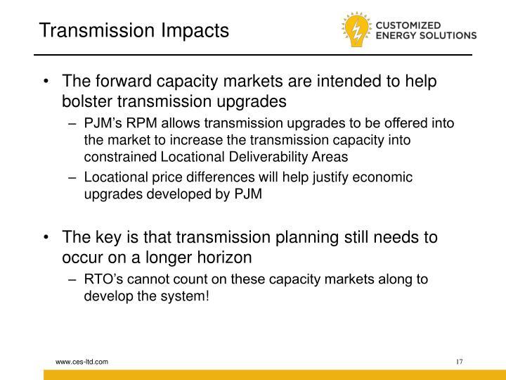 Transmission Impacts