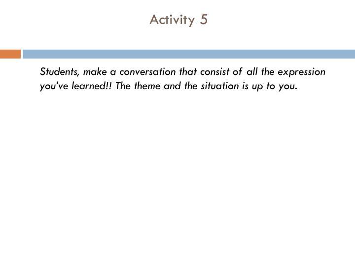 Activity 5
