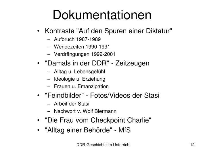Dokumentationen