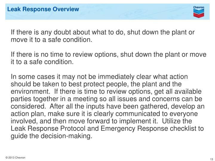 Leak Response Overview