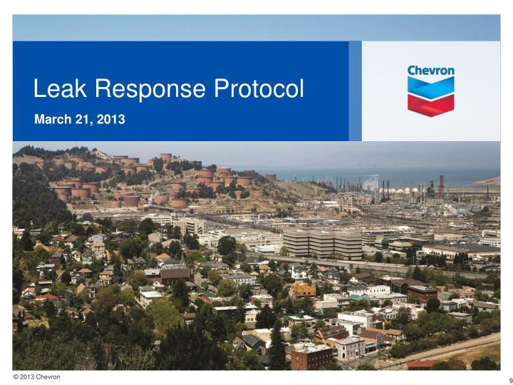 Leak Response Protocol