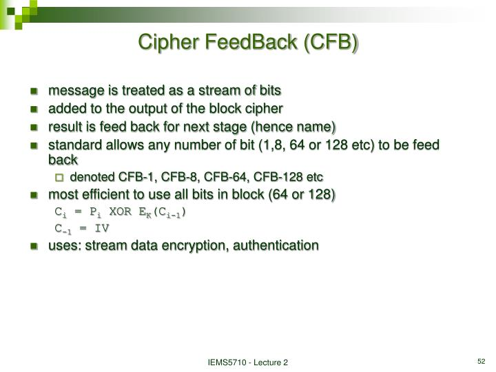 Cipher FeedBack (CFB)