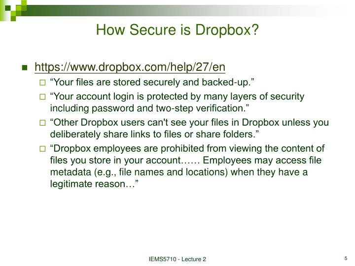 How Secure is Dropbox?