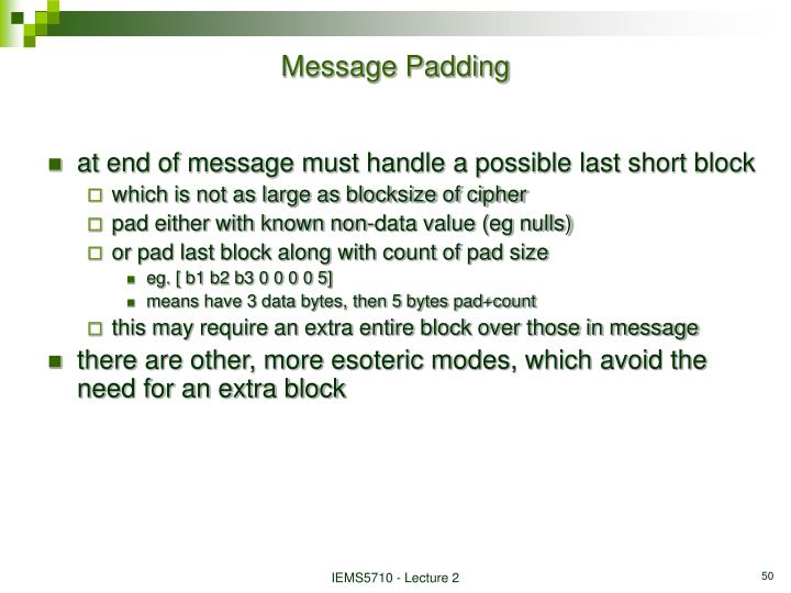 Message Padding