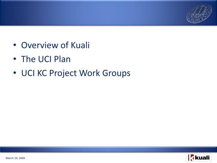 Overview of Kuali