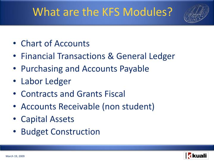 What are the KFS Modules?