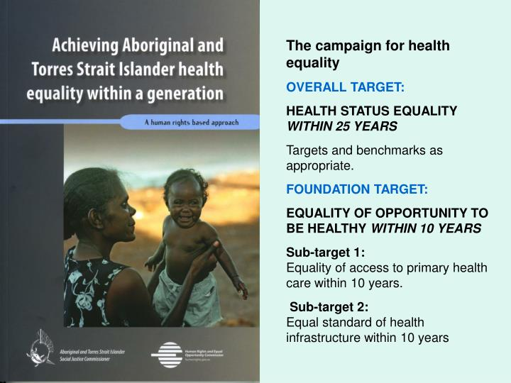 The campaign for health equality