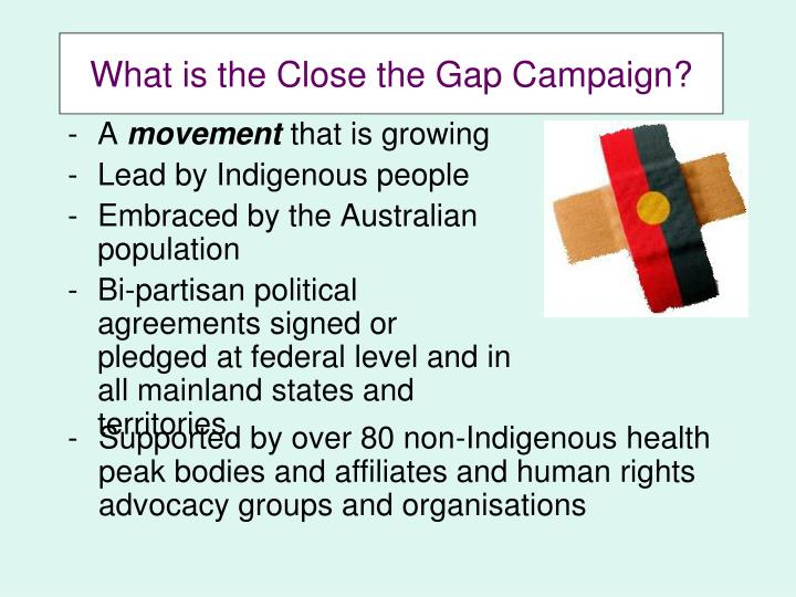 What is the Close the Gap Campaign?