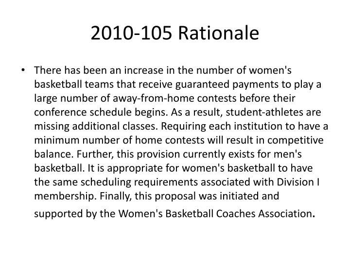2010-105 Rationale