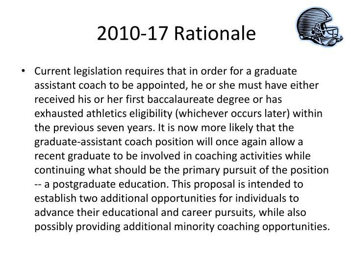 2010-17 Rationale
