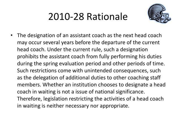 2010-28 Rationale
