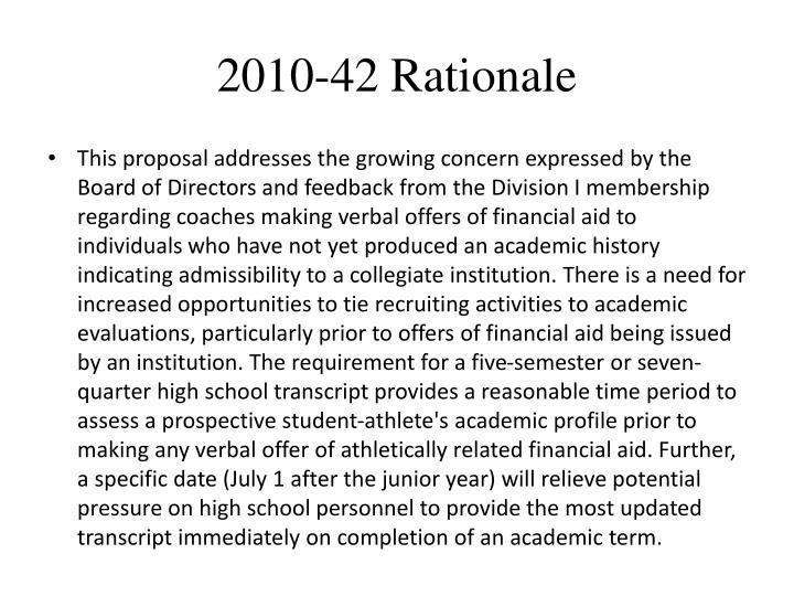 2010-42 Rationale