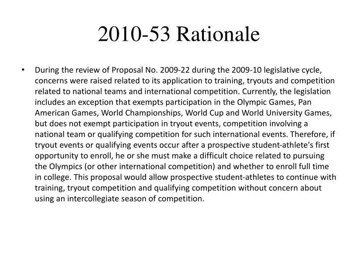 2010-53 Rationale