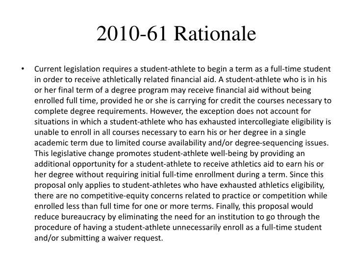 2010-61 Rationale