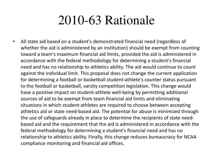 2010-63 Rationale