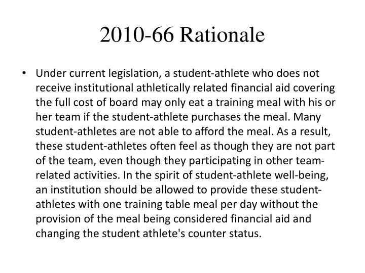 2010-66 Rationale