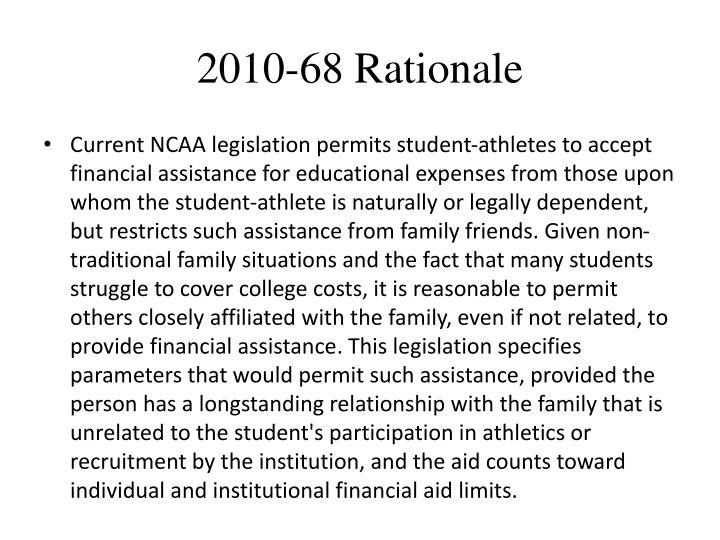 2010-68 Rationale