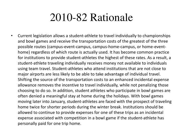 2010-82 Rationale