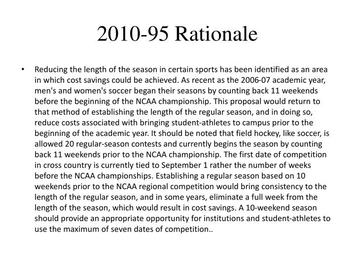 2010-95 Rationale
