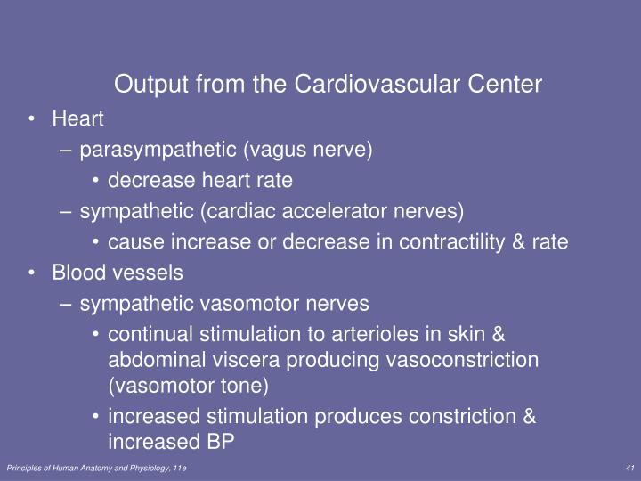 Output from the Cardiovascular Center