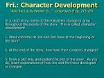 fri character development and the lucky winner is crossroads 9 pp 273 287