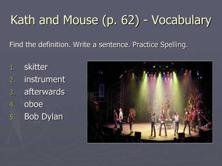 Kath and Mouse (p. 62) - Vocabulary
