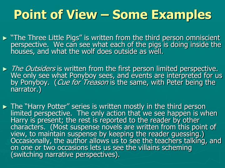 Point of View – Some Examples