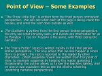 point of view some examples