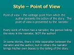 style point of view