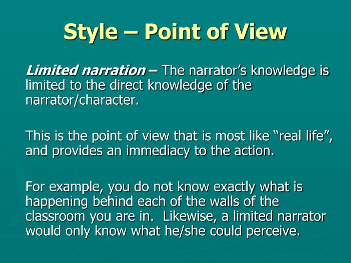 Style – Point of View