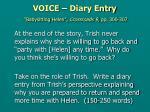 voice diary entry babysitting helen crossroads 9 pp 300 307