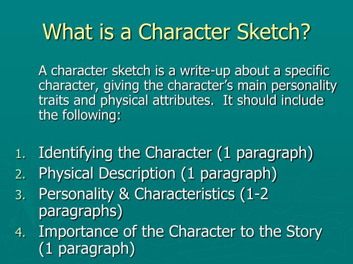 What is a Character Sketch?