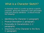 what is a character sketch
