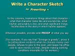 write a character sketch prewriting1