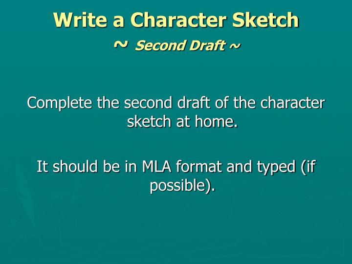 Write a Character Sketch